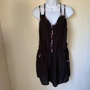 Xhilaration Black Romper